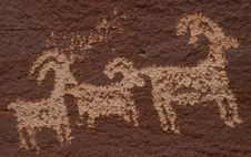 Free Wolfe Ranch Petroglyphs Royalty Free Stock Photo - 848425