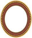 Free Oval Gold Picture Frame Stock Image - 8402061