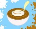 Free Milk & Coffee Royalty Free Stock Photography - 8406617