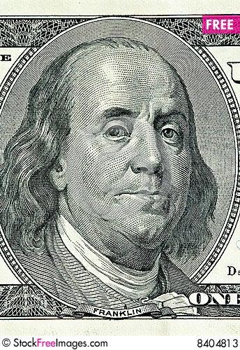Free Close-up 100 Dollars Stock Photos - 8404813