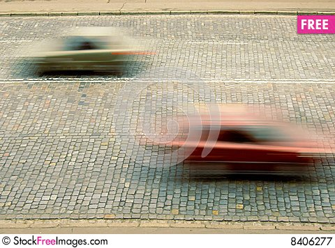Free Traffic With Motion Blur Royalty Free Stock Photography - 8406277