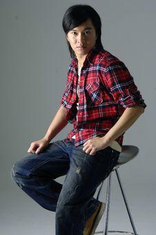 Free Fashion Asian Man Model Stock Photography - 8400212