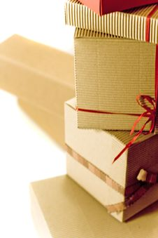 Free Stack Of Cardboard Boxes Royalty Free Stock Photos - 8400258