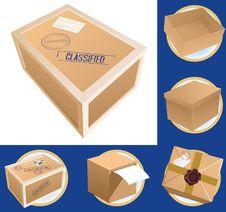 Free Parcel Set Royalty Free Stock Image - 8400706
