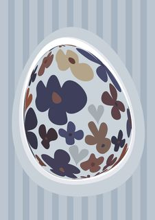 Free Blue Floral Easter Egg Stock Photo - 8400810