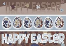 Free Three Easter Eggs Banners Stock Images - 8400864