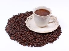 Free A Cup Of Aromatic Coffee Royalty Free Stock Photography - 8400887