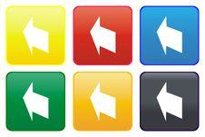 Arrow Web Button Royalty Free Stock Photos