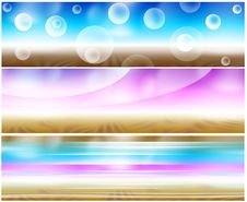 Free Set 3 Psychedelic Banners Stock Photography - 8401382