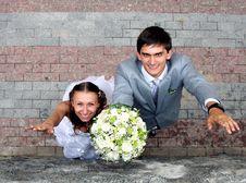 Free Happy Newlyweds Stock Image - 8401441