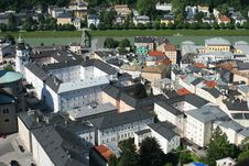 Free View On Salzburg From Fortress Stock Photo - 8401560