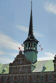 Historic Building And Tower In Denmark Stock Images