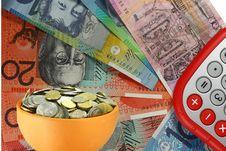 Free Calculating Money Royalty Free Stock Image - 8402606