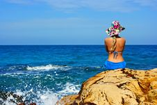 Free Girl At The Ocean Stock Photos - 8402743