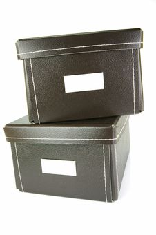 Stationery Boxes Stock Images