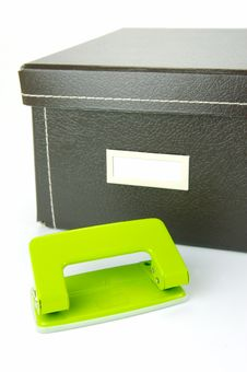 Stationery Boxes Stock Photography