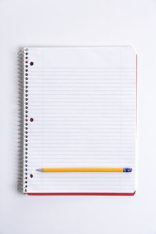 Blank Notebook On Desk Royalty Free Stock Image