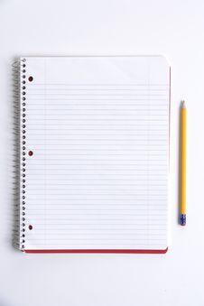 Blank Notebook On Desk Stock Image