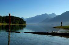 Free Pitt Lake Early Morning Scene Stock Photography - 8404032