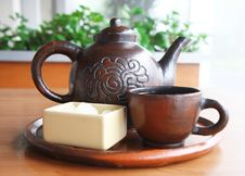 Traditional Tea Set Stock Photography