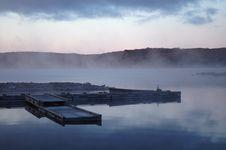 Free Misty Morning On Flack Lake Stock Images - 8404074