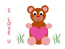 Free I Love You Teddy Stock Photo - 8404540