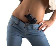 Free Waist And Gun Stock Images - 8404764