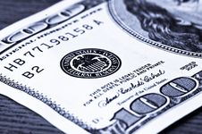 Close-up 100 Dollars Stock Image