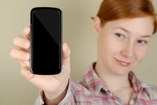Free Mobile Phone In His Hand Stock Photo - 8405470