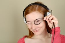 Free Woman In Headphones Royalty Free Stock Photography - 8405507