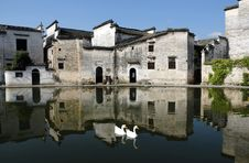 Hongcun China,a Famous Villages Stock Photos