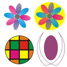 Free Colorful Floral Graphic Logo Royalty Free Stock Photography - 8405897