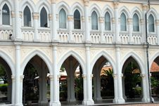 Free Singapore: Cloister Gallery At Chijmes Church Royalty Free Stock Photo - 8406065