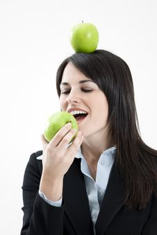 Free Green Apple Royalty Free Stock Photos - 8406328