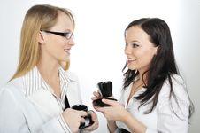 Free Businesswoman Having Coffee Stock Photo - 8406340