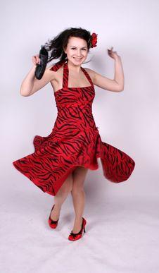 Free Dancing Pin-up Girl Stock Photos - 8406453
