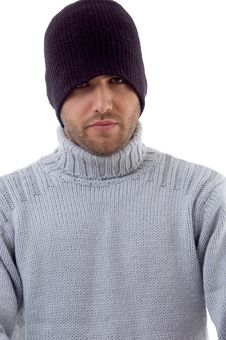 Free Man Covered With Winter Clothes Royalty Free Stock Photos - 8406938