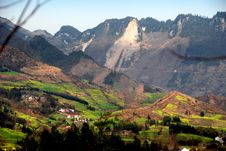 Free Pengzhou, China: Mountains And Farmland Valleys Royalty Free Stock Photography - 8407027