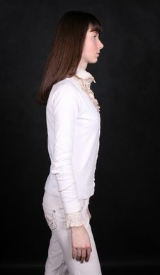 Girl Standing In Studio Royalty Free Stock Photography