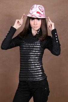 Free Happy Girl In Studio Stock Photography - 8407072