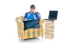 Free Boy Doing Homework Royalty Free Stock Photo - 8407225