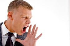 Free Close Up Of Shouting Executive Stock Images - 8407604