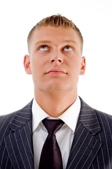 Free Young Guy Looking Upwards Stock Photo - 8407760