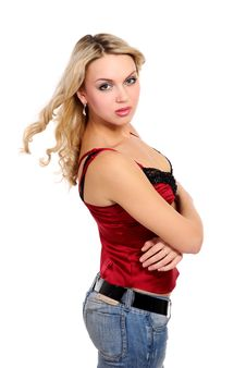 Free Young Beautiful Blond  Girl Stock Photo - 8407900