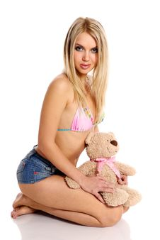 Free Young Beautiful Blond  Girl Royalty Free Stock Photos - 8408548