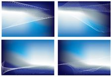 Free Sky Blue Gradient Mesh Background Set Of 4 Stock Photography - 8408602