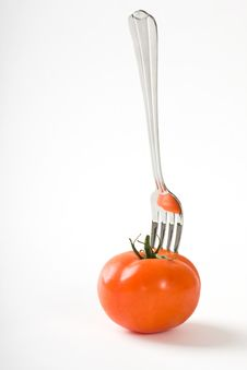 Free Tomato And Fork Stock Image - 8408781