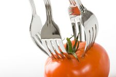 Free Tomato And Fork Royalty Free Stock Photos - 8408798