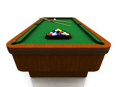 Free Billiard Table Royalty Free Stock Images - 8409129