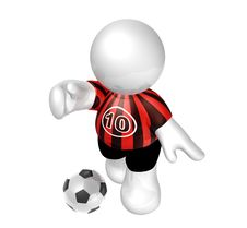 Free Soccer Player Star With Number Ten Stock Photos - 8409293